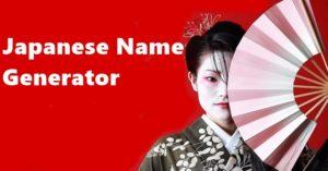 Japanese Name Generator - Random Generate Male Or Female 2019