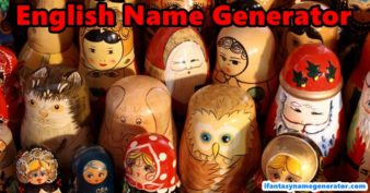 English Name Generator - American & British English Names