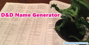 D&D Name Generator - Official Character Names (Dungeons